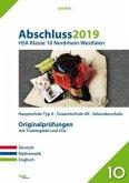 Abschluss 2019 - Hauptschulabschluss Klasse 10. Deutsch, Mathematik und Englisch. Nordrhein-Westfalen