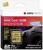 AgfaPhoto SDHC UHS I U3 V30 32GB Professional High Speed