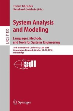 System Analysis and Modeling. Languages, Method...