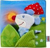 HABA 304211 - Stoffbuch Gute Nacht, Bilderbuch mit Fingerfigur