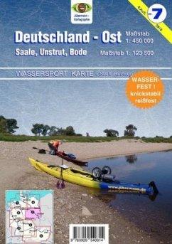 Jübermann Wassersport-Wanderkarte Deutschland Ost für Kanu- und Rudersport