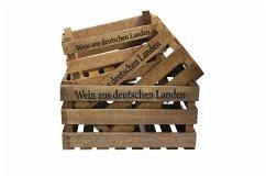 Holzkiste ´´ Wein Aus Deutschen Landen ´´ 3er Set