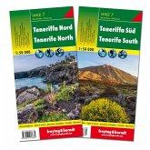 Freytag & Berndt Wander-, Rad- und Freizeitkarte Teneriffa Nord und Süd, Wanderkarten Set 1:50.000; Tenerife North + Sud