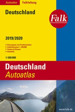 Falk Autoatlas Falkfaltung Deutschland 2019/2020 1:500 000