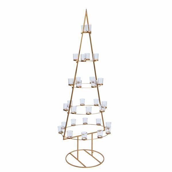 deko objekt weihnachtsbaum golden tree portofrei bei b. Black Bedroom Furniture Sets. Home Design Ideas