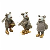 Deko-Figuren-Set, 3-tlg. Bärenbande