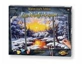 Schipper Malen nach Zahlen 609260786 - Ein Wintertraum, Triptychon 50 x 80cm