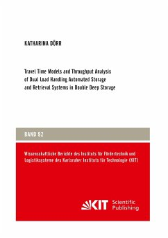 Travel Time Models and Throughput Analysis of Dual Load Handling Automated Storage and Retrieval Systems in Double Deep Storage
