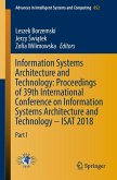Information Systems Architecture and Technology: Proceedings of 39th International Conference on Information Systems Architecture and Technology - ISAT 2018 (eBook, PDF)