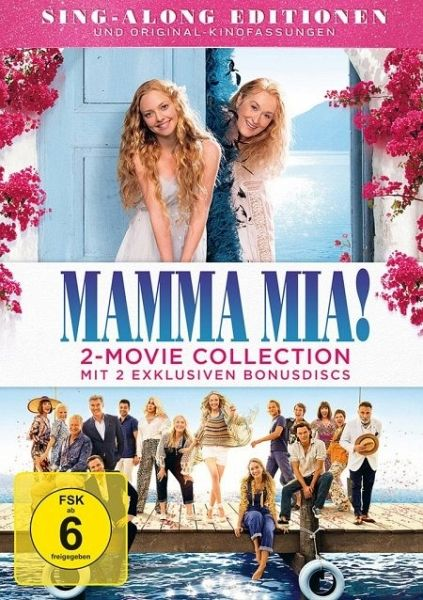 Mamma Mia 2 Movie Collection 4 Dvds