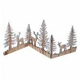 Weihnachts-Silhouette Zauberwald Natur/Weiß