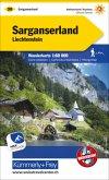 Kümmerly & Frey Karte Sarganserland, Liechtenstein Wanderkarte