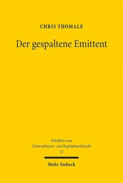 Der gespaltene Emittent (eBook, PDF) - Thomale, Chris
