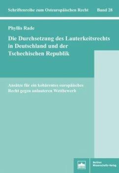 Die Durchsetzung des Lauterkeitsrechts in Deuts...