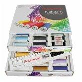 Ackermann Nähgarn-Box mit 36 Farben á 200m Weiß