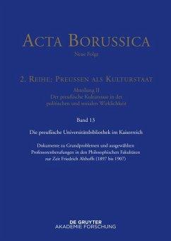 Preußische Universitätspolitik im Deutschen Kaiserreich (eBook, ePUB)