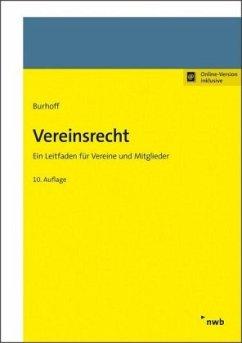 Vereinsrecht - Burhoff, Detlef
