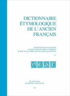 Dictionnaire étymologique de l'ancien français (DEAF). Buchstabe E. Fasc. 1