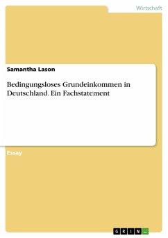 Bedingungsloses Grundeinkommen in Deutschland. Ein Fachstatement (eBook, PDF)
