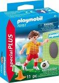 PLAYMOBIL® 70157 Fußballspieler mit Torwand