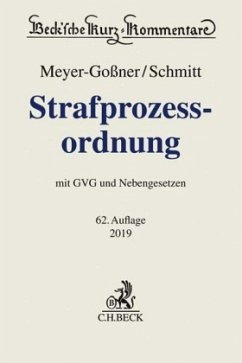 Strafprozessordnung - Meyer-Goßner, Lutz; Schmitt, Bertram
