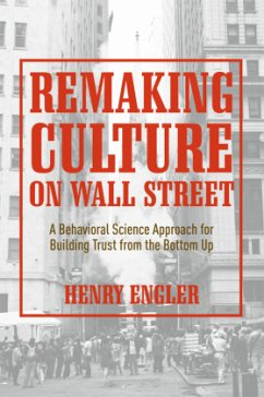 Remaking Culture on Wall Street - Engler, Henry