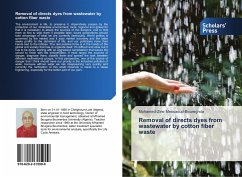 Removal of directs dyes from wastewater by cotton fiber waste