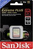 SanDisk Extreme Plus SDXC 64GB 150MB V30 U3 SDSDXW6-064G-GNCIN