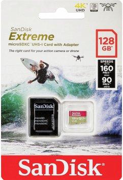 SanDisk microSDXC ActionSC 128GB Extr.160MB A2 SDSQXA1-128G-GN6AA