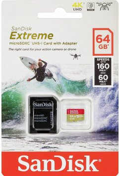 SanDisk microSDXC Action SC 64GB Extr.160MB A2 SDSQXA2-064G-GN6AA