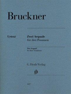 Zwei Aequale für drei Posaunen, Partitur und Stimmen - Bruckner, Anton