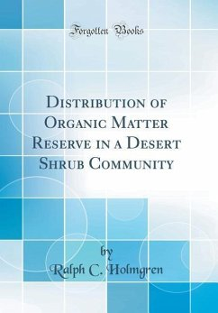 Distribution of Organic Matter Reserve in a Des...