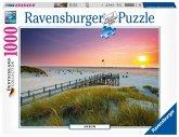 Ravensburger 19877 - Deutschland Collection, Sonnenuntergang über Amrum, Puzzle, 1000 Teile
