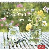 Für die weltbesten Großeltern 2020: Dekorativer Wandkalender mit Monatskalendarium