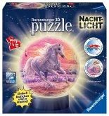 Ravensburger 11843 - Pferde am Strand, Nacht Licht, 3D Puzzle Ball, 72 Teile
