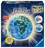 Ravensburger 11844 - Erde im Nachtdesign, Kinder-Globus 3D Puzzle Ball, 72 Teile