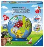 Ravensburger 11840 - Kindererde, Kinder-Globus 3D Puzzle Ball, 72 Teile