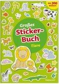 Großes Sticker-Buch Tiere (Mängelexemplar)