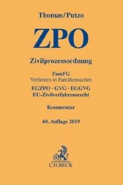 Zivilprozessordnung - Thomas, Heinz; Putzo, Hans; Reichold, Klaus; Hüßtege, Rainer; Seiler, Christian