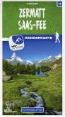Kümmerly+Frey Karte Zermatt - Saas-Fee Wanderkarte