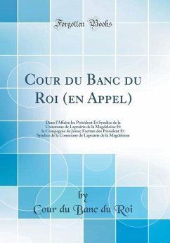 Cour du Banc du Roi (en Appel)
