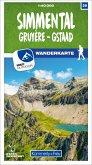Kümmerly+Frey Karte Simmental / Gruyère - Gstaad Wanderkarte
