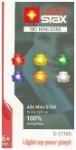 Light Stax, Bausteine, Mini Lamp Stax (40 lamps, 10 x w, 6 x red, yw., green, orange & blue)