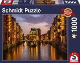 Speicherstadt am Abend, Hamburg (Puzzle)