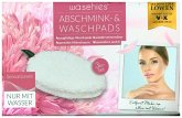 Waschies Abschmink- und Waschpads 3er-Set 12,5 x 8 cm weiß