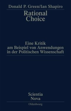 Rational Choice (eBook, PDF) - Green, Donald P.; Shapiro, Ian