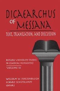 Dicaearchus of Messana (eBook, ePUB)