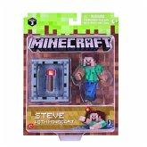 Minecraft Sammelfigur Steve mit Kettenrüstung und Accessoire