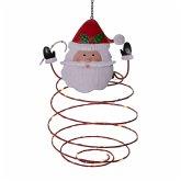 LED-Spiral-Laterne Santa Rot/Weiß/Grün
