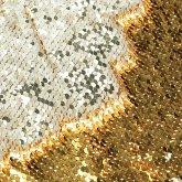 Wende-Plaid Pailletten Creme/Goldfarben